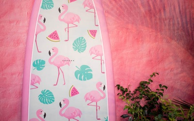 Wallpapered Surfboard